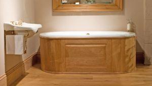 Drummonds чугунные ванны встройка сдеревянными панелями
